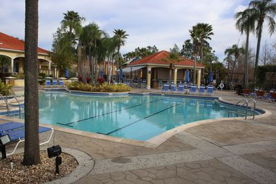 Relax in the heated pool. Enjoy a drink from the bar!