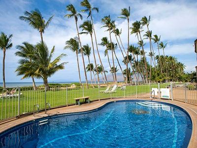Photo for Up to 25% off Sale! 1 Bd 1 Bath Ocean Front Ground Floor Condo in Central Kihei