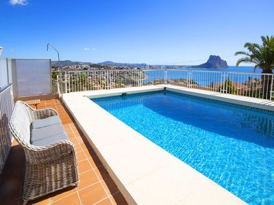 Photo for Beautiful private villa for 9 people with A/C, WIFI, private pool, TV and parking