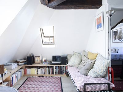 Photo for Peaceful Parisian Penthouse in the Upper Marais