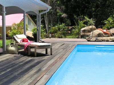 Photo for Beautiful charming colonial villa with pool 200 m from Grande Anse Beach