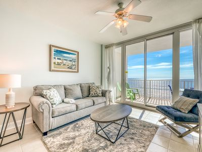 Photo for Open, airy condo w/ Gulf-front views & shared pools, hot tubs & gym!