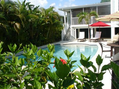 Photo for Elegantly Casual Caribbean style beach home with spectacular heated pool