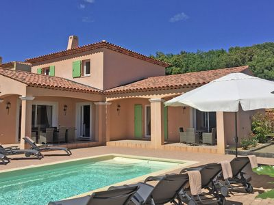 Photo for Modern villa with a private pool and airco, at 600m from Le Plan-de-la-Tour