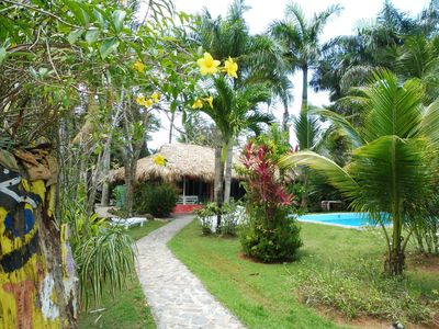 Photo for Typical villa, nearby beach, private pool, tropical garden.