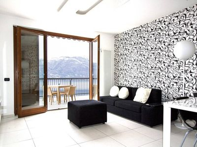 Photo for Stunning 1 bed apartment. Lake views. Large terrace. WIFI