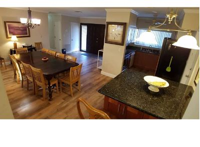 Great house for large groups. Ample kitchen and dining.