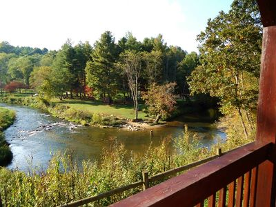 Picturesque view from the front deck of Chestnut Creek