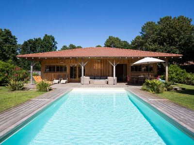 Photo for WOOD VILLA OF GOOD STANDING WITH HEATED SWIMMING POOL
