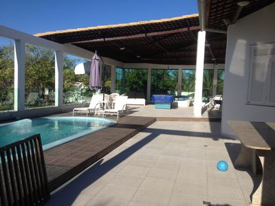 Photo for House on the beach of the bag, with pool, wonderful leisure area, near the beach