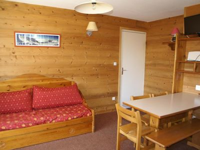 Photo for Surface area : about 28 m². Living room with bed-settee. Bedroom with 2 bunk beds