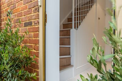 Ground floor:  Entrance to the property is from the rear garden