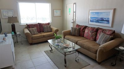 Photo for Steps to the beach, poolside 2BR condo with gulf views!