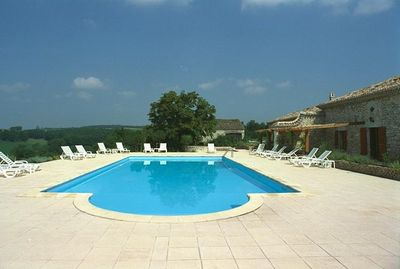 Fantasticly suituated pool and terrace command the valley views