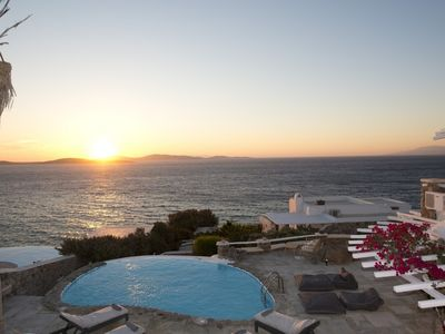 Photo for Home By The Sea Spa Villa Mykonos 4br 9guests Private Pool