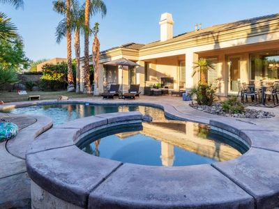 Photo for Mediterranean Home walking distance to Coachella w/pool, spa, ping pong, & more!
