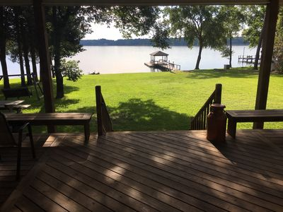 Photo for LAKEFRONT Paradise  with Boat Dock Sleeps 15