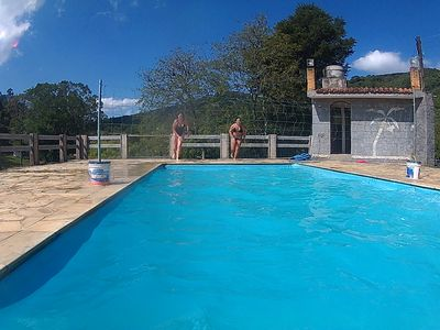 Photo for Sitio in Nazare Pta with pool and waterfall for 26 people 80 km from Sao Paulo.