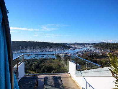 Photo for Beautiful sea view over the harbor Marina Veruda
