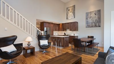 Open Concept Main Living Level with Hardwood Floors