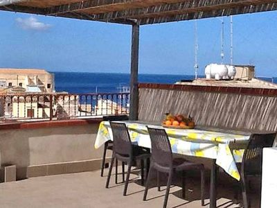 Photo for Comfortable Panoramic Apartment with Terrace in the Historic Center 2 steps from the sea