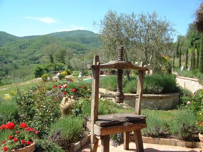 Ancient Wine Press by Pool Kitchen