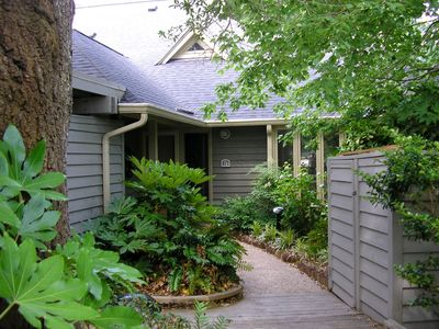 Front walkway - unique appeal in heavily wooded, secluded Gloucester Terrace