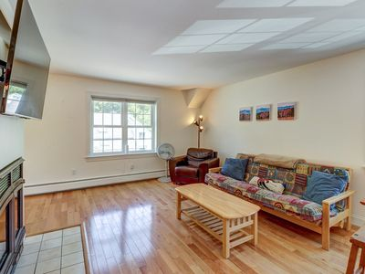Photo for Clean, bright condo near slopes & lakes - walk to dining, in-town conveniences!