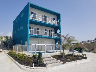 Photo for The Betty- On the Beach! 3 bed 4 bath w/ Elevator and private pool! Low allergen