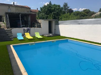 Photo for - Quiet house in the countryside, private pool 50m²
