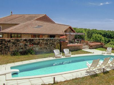 Photo for Spacious Holiday Home in Roussines with Private Pool