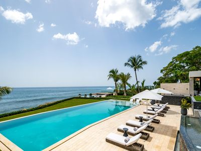 Photo for Oceanfront Villa, Large Saltwater Swimming Pool and Jacuzzi, Two Media Rooms, Large Gazebo