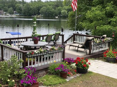 Photo for Webster Lake WATERFRONT  with direct access on site to private beach of your own