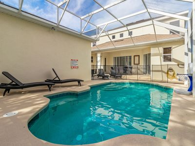 Photo for Chic home with private Pool & spa just 10 Min from Disney! Dogs OK!