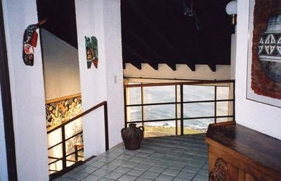 Ocean front upstairs entryway with magnificent views.
