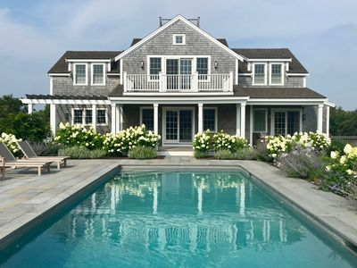 New Nantucket House with Pool...Walk to Pocomo Point Beach