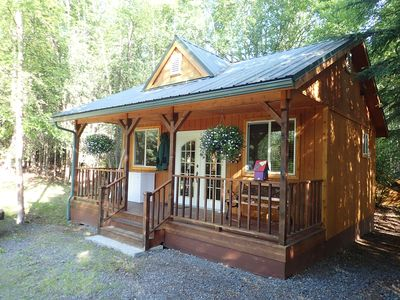 Photo for Secluded cozy cabin steps from world class salmon fishing on the Kenai River