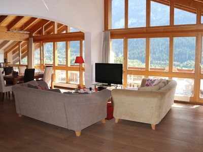 Photo for Silberhorn, Penthouse apartment with panoramic mountain views.