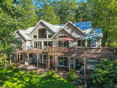Brighton Shores: Scenic Lake Views, Private Dock, Multiple Master Suites
