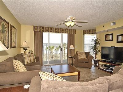 Photo for Crescent Shores 101, 4 Bedroom Beachfront Condo, Hot Tub and Free Wi-Fi!