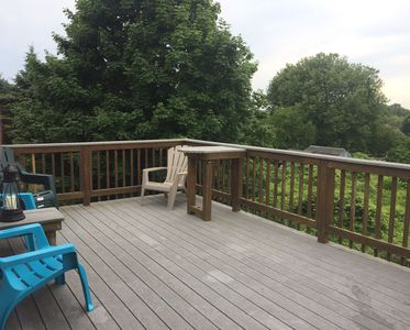 Upstairs - back deck