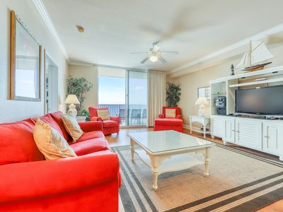 Photo for Family-friendly, beachfront condo w/ Gulf views, shared pools, & fitness center