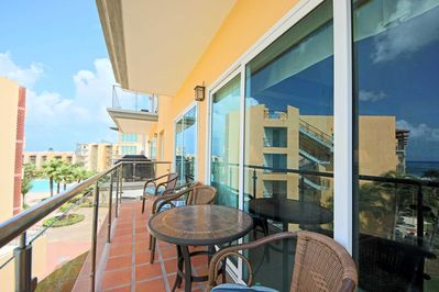 Your balcony with seating to enjoy the amazing view and sunset