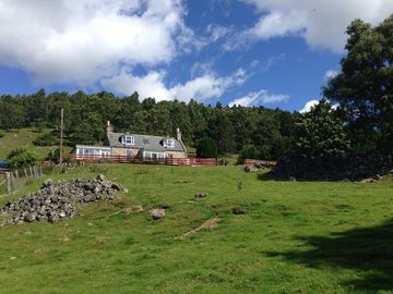 Lovely cottage in glorious location near Ballater, stunning views.