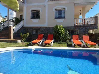 Photo for This 5-bedroom villa for up to 10 guests is located in Nerja and has a private swimming pool and Wi-
