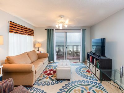 Photo for Gulf Front Two Bedroom Condo with Private Balcony Overlooking the Water!