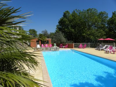Photo for South Ardèche air-conditioned cottage with heated pool and wellness area