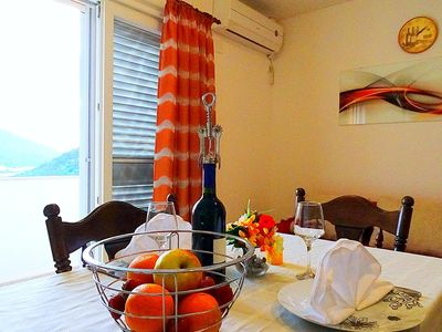 Photo for Two bedroom apartment with balcony and sea view Zaklopatica, Lastovo (A-12452-b)