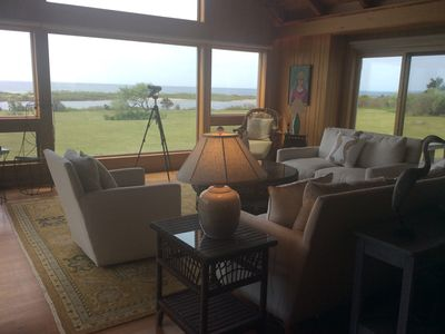Photo for Spectacular Sweeping Ocean View Cape On Upper Chilmark Pond,
