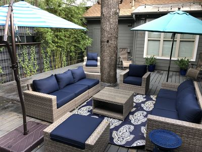 Relax on our newly renovated outdoor deck